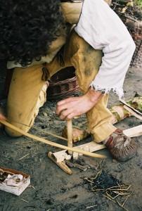 prehistorie, vuur maken met de boog 2