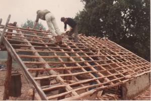 63, , sept. 1983, rietlatten oefenschuur