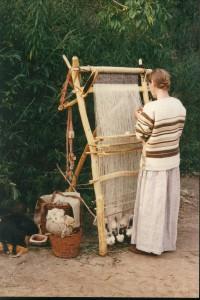 prehistorie, weven, linnen