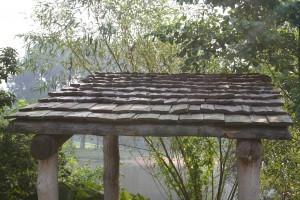 03,  dakdekken met hout, rookhuisje Eindhoven,