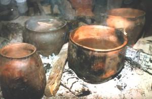 2, kookpotten in gebruik