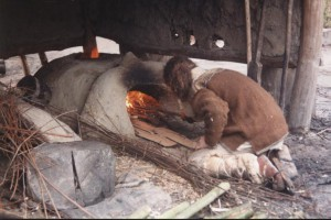 P, LE, broodbakken, de oven opstoken 2