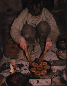 P, LE, voedsel, appelflappen bakken