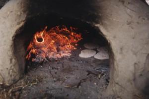 P, LE, voedsel, platte broodjes bakken 003