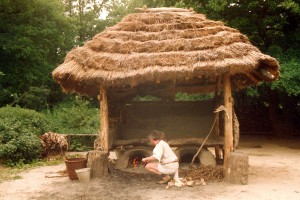 broodovenspieker, BII, 1991 met gelaagd riet met leemnokje